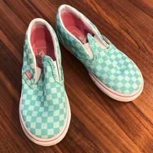 Euc barely worn aqua check VANS!